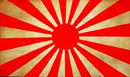 Vieux drapeau du Japon Images libres de droits
