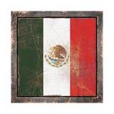 Vieux drapeau du Mexique Photo stock