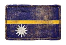 Vieux drapeau du Nauru Photo libre de droits