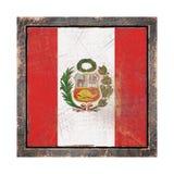 Vieux drapeau du Pérou Images stock