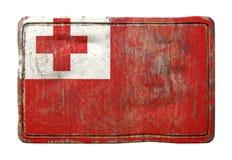 Vieux drapeau du Tonga Photographie stock libre de droits