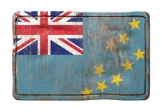 Vieux drapeau du Tuvalu Photo libre de droits