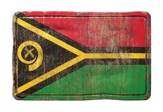 Vieux drapeau du Vanuatu Image libre de droits