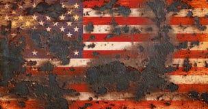 Vieux drapeau grunge de fond des Etats-Unis Photographie stock libre de droits
