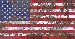 Vieux drapeau grunge de fond des Etats-Unis Photos stock