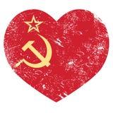 Rétro drapeau de coeur de communisme URSS - de l'Union Soviétique Photos libres de droits