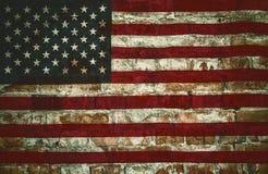 Vieux drapeaux des Etats-Unis Photo libre de droits