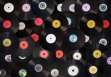 Vieux enregistrements de vinyle Image libre de droits