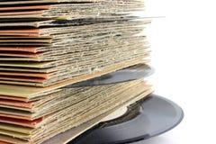 Vieux enregistrements de vinyle photographie stock libre de droits