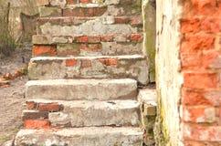 Vieux escaliers Photo stock