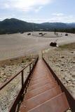 Vieux escaliers de rouille au mien de cuivre, Foldall Images libres de droits