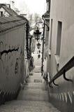 Vieux escaliers de ville Photographie stock
