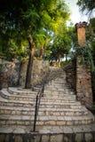Vieux escaliers de ville d'Antalya Image stock