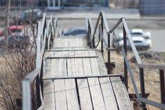 Vieux escaliers en bois Photographie stock libre de droits