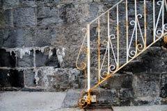 Vieux escaliers en pierre Photographie stock