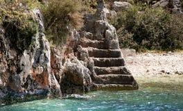 Vieux escaliers par le sea1 Photos libres de droits