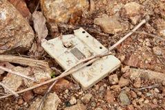 Vieux et abandonné enregistreur à cassettes images stock