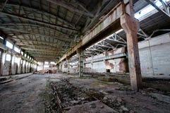 Vieux et abandonné intérieur de centrale Photo libre de droits
