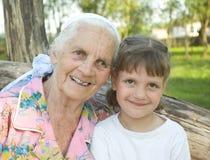 Vieux et jeune Photo stock