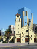 Vieux et neuf Santiago de Chili Photos stock