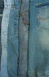 Vieux et neufs jeans Photographie stock