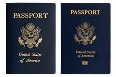 Vieux et neufs passeports américains image libre de droits