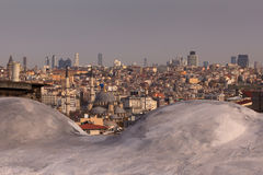 Vieux et nouveau d'Istanbul Photos stock