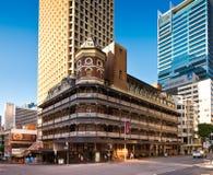 Vieux et nouveaux bâtiments à Brisbane Images libres de droits