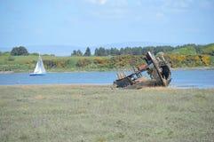 Vieux et nouveaux bateaux photo stock