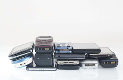 Vieux et nouveaux téléphones portables, smartphone Images stock