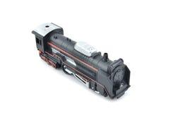 Vieux et poussiéreux rétro train de couleur de noir de jouet de regard Photographie stock libre de droits