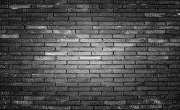Vieux et sale fond de noir de mur de briques, texture Photos libres de droits