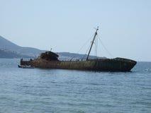 Vieux expédiez les épaves à Ayr Ecosse photos stock