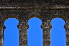 vieux fenêtre et mur en plaza de toros Images stock