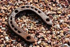 Vieux fer à cheval Photo stock