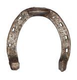 Vieux fer à cheval en métal d'isolement Photographie stock libre de droits