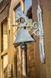 Vieux fer de sculpture de cupidon Photographie stock
