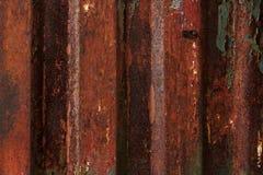 Vieux fer et peinture rouillés d'épluchage Images stock
