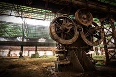 Vieux ferme métallurgique attendant une démolition Image libre de droits