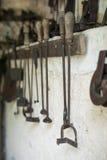 Vieux fers de marquage à chaud Image libre de droits