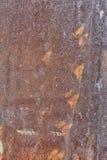 Vieux feuillard, il a des éraflures et des traces de rouille de destruction Fond avec la texture Photo avec une vignette Image libre de droits