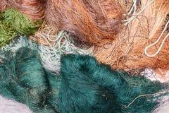 Vieux filets de pêche Photo stock