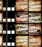 Vieux film de film Images libres de droits