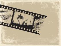 Vieux film sur le vieux papier illustration stock