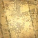 Vieux filmstrip de trame et de grunge Image stock