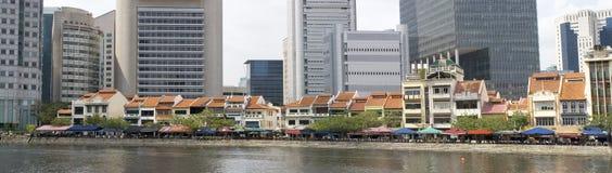 vieux fleuve neuf Singapour images stock