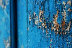 Vieux fond abstrait en bois bleu-foncé Photos stock