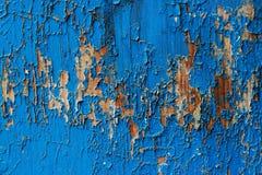 Vieux fond abstrait en bois bleu-foncé Image libre de droits