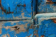 Vieux fond abstrait en bois bleu-foncé Images libres de droits
