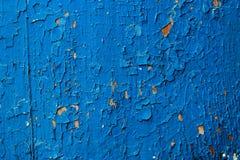 Vieux fond abstrait en bois bleu-foncé Image stock